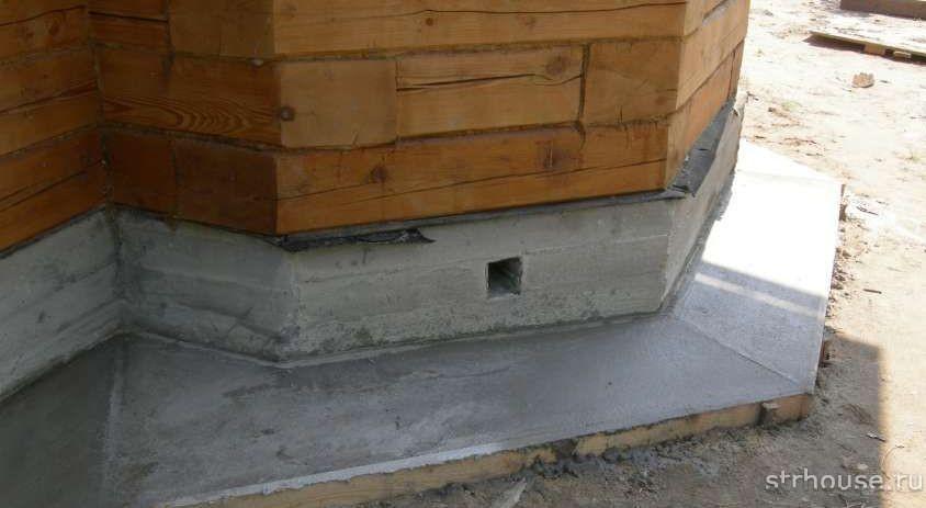Отмостка вокруг дома из бетона