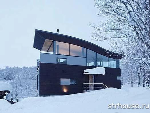 Односкатая крыша под снегом