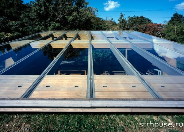 Плоская стеклянная крыша
