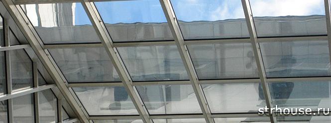 Алюминиевый профиль стеклянной крыши