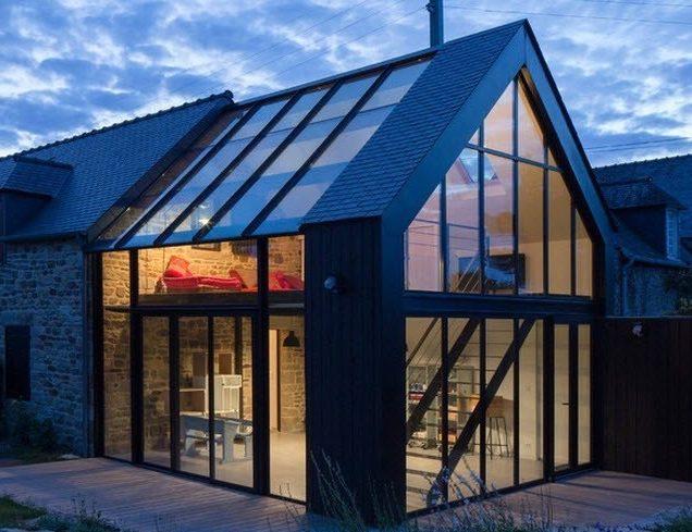 Как сделать стеклянную крыша дома