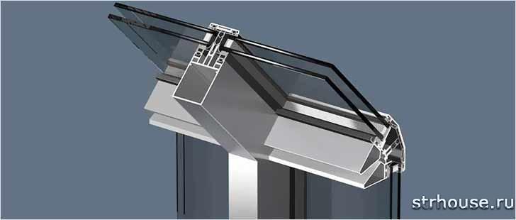 Стеклопакет стеклянной крыши