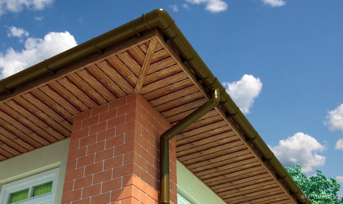 Подшив карнизов крыши софитом