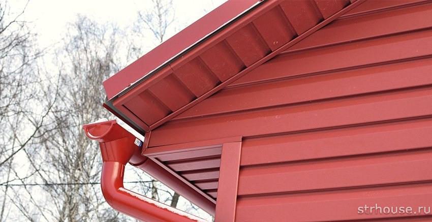 Подшивка карнизов крыши сайдингом