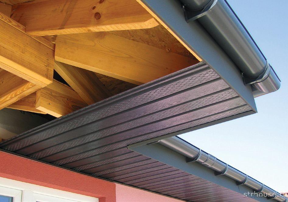 Подшивка карнизов крыши софитом