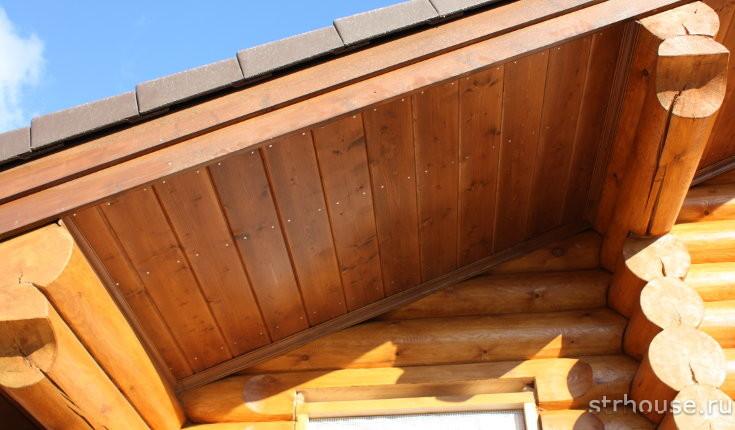 Подшивка карнизов крыши вагонкой