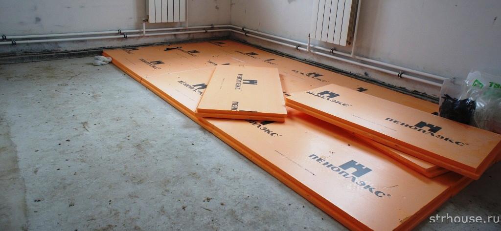 Утепление бетонной стяжки пола