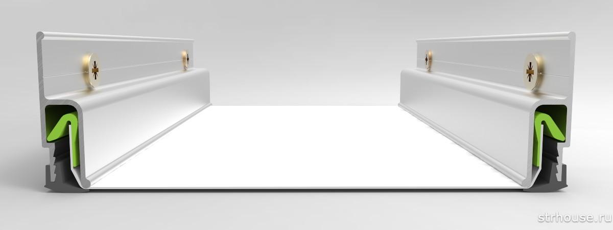 Гарпунный багет для натяжного потолка