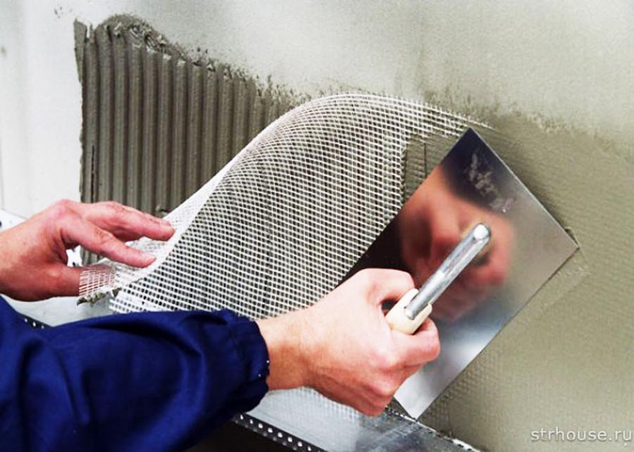 Армирование утеплителя штукатурной сеткой