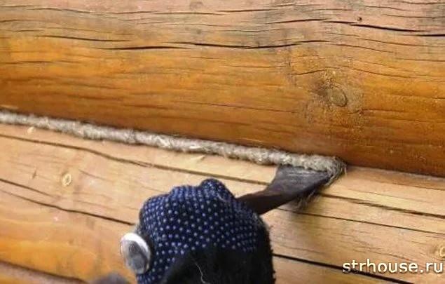 Конопатка сруба
