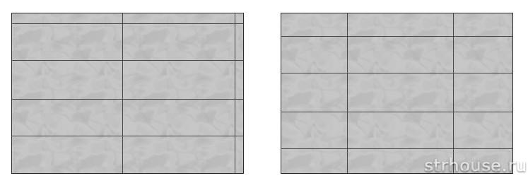 Схемы укладки плитки на стену