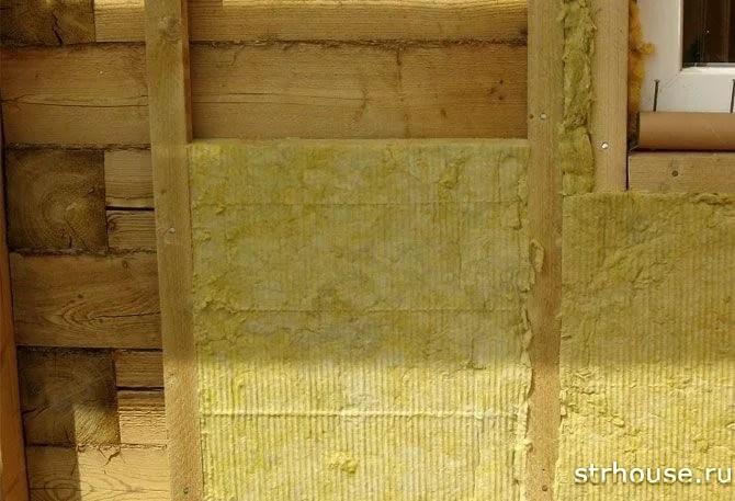 Утепление брусового дома базальтовой ватой