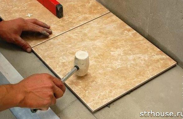 Выравнивание плитки