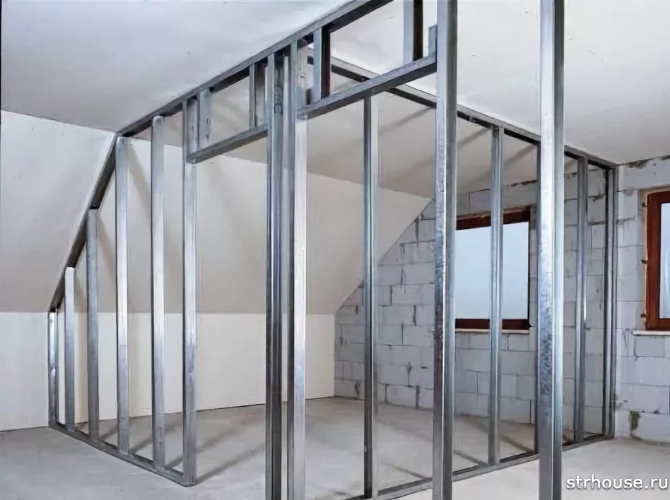 Металлический каркас для стен из гипсокартона