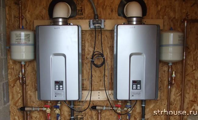 Проточные газовые водонагреватели