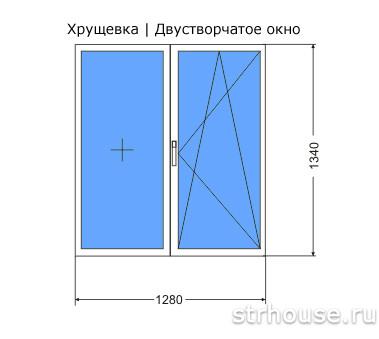 Размеры двухстворчатого окна в хрущевке