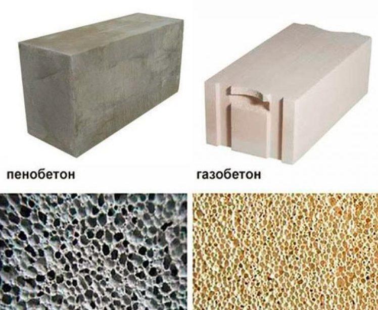 Сравнение газоблоков и пеноблоков