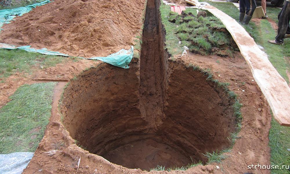 Траншея для подвода водопровода