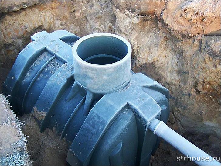 Выгребная яма из пластика