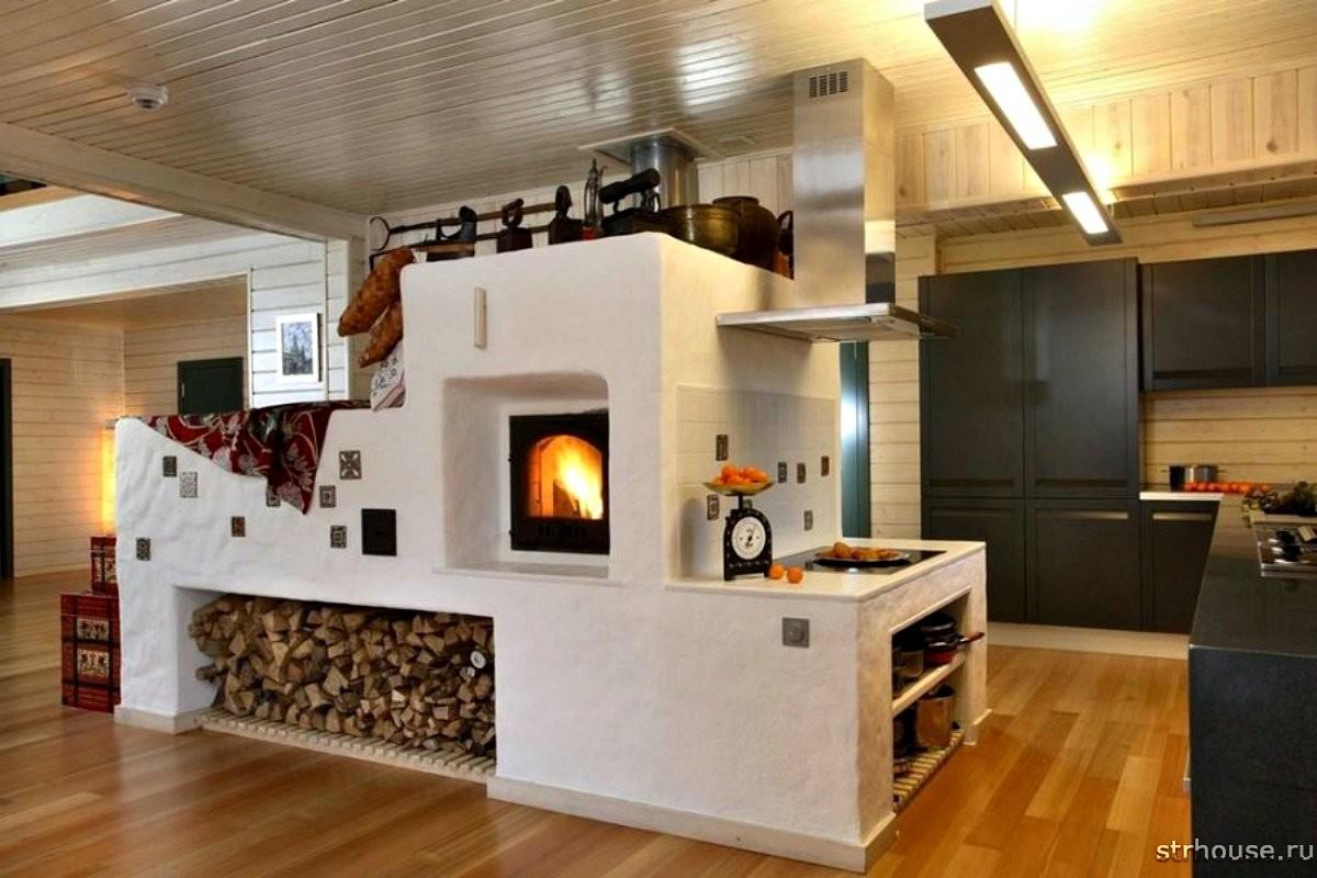 Каменная дровяная печь