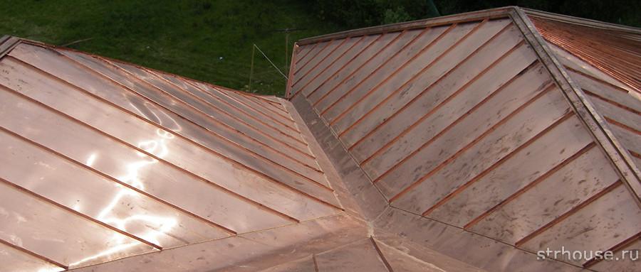 Медная фальцевая крыша