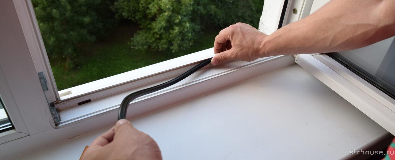 Резиновые уплотнители пластикового окна
