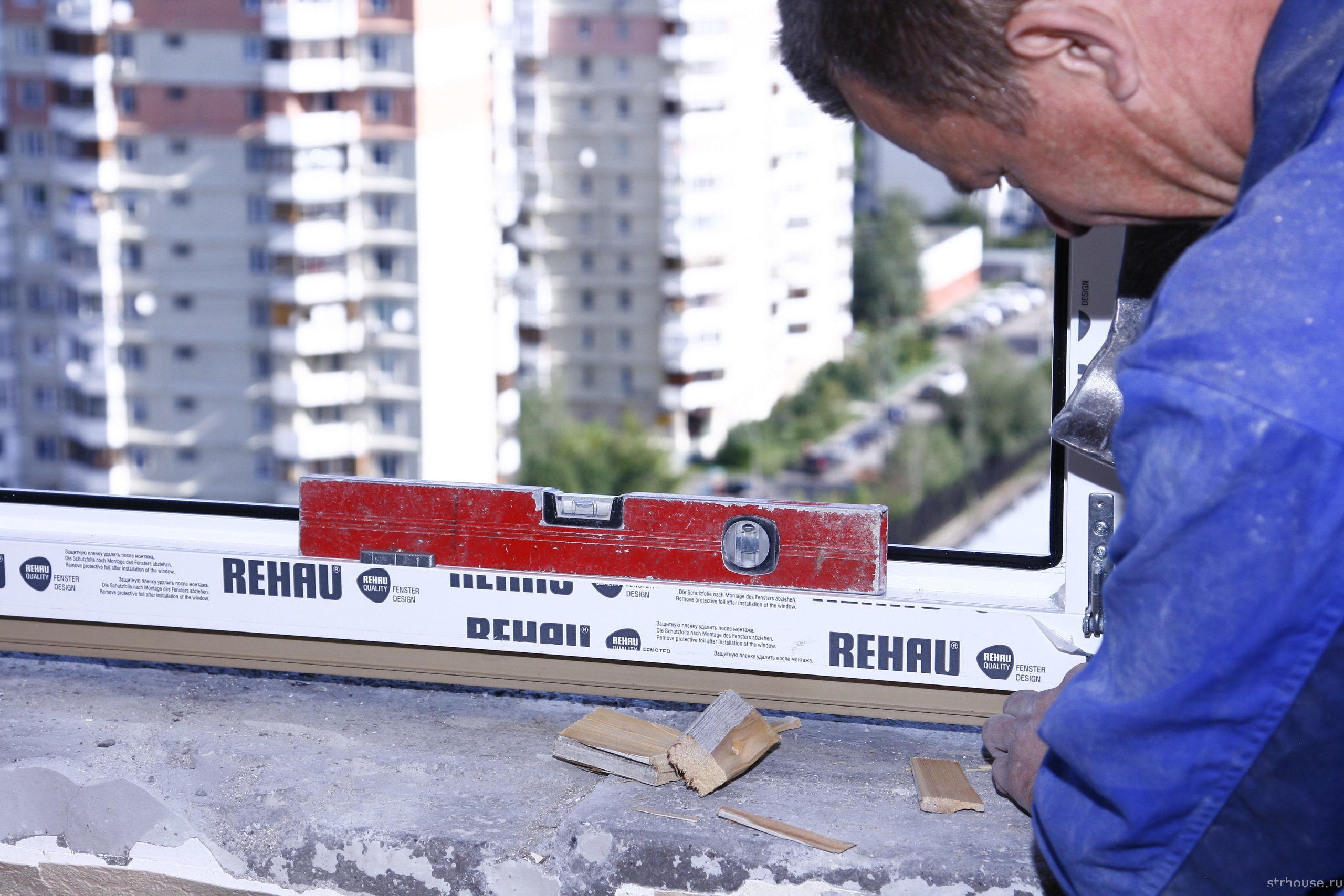 Смонтированная рама пластикового окна