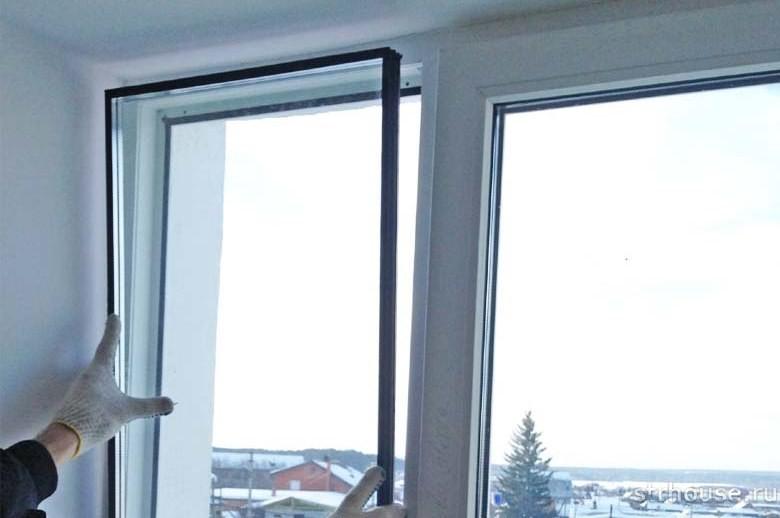 Снятие стеклопакета пластикового окна