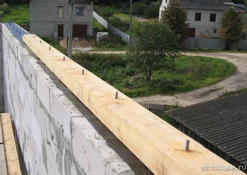 Мауэрлат двухскатной крыши