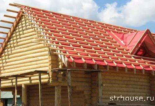 Обрешетка двухскатной крыши